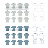 Tshirts fashion set  Royalty Free Stock Photo