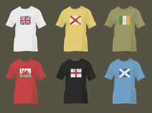 Tshirts with flags 1 Stock Images