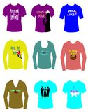 Tshirts Flirty Imagem de Stock