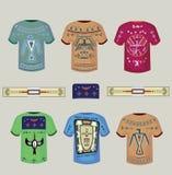 Tshirts med indiska prydnader Fotografering för Bildbyråer