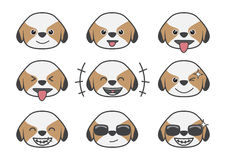 Shih Tzu cartoon emotion 01 Royalty Free Stock Image