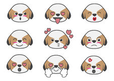 Shih Tzu cartoon emotion 03 Royalty Free Stock Images