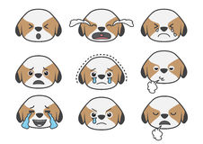 Shih Tzu cartoon emotion 04 Royalty Free Stock Photo