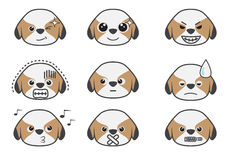 Shih Tzu cartoon emotion 05. Shih Tzu puppy in difference emotion Royalty Free Stock Photography