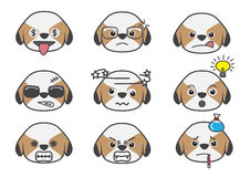 Shih Tzu cartoon emotion07 Stock Photo