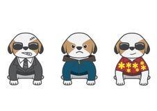 Shih Tzu cartoon 03 stock illustration