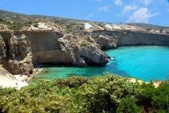 Tsigrado beachin希腊 免版税库存照片