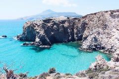 TSIGRADO-STRAND, MILOS-INSEL GRIECHENLAND lizenzfreies stockfoto