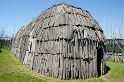 Tsiionhiakwatha Droulers arkeologisk plats - Quebec - Kanada Royaltyfri Foto