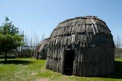 Tsiionhiakwatha Droulers arkeologisk plats - Quebec - Kanada Royaltyfria Foton