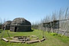 Tsiionhiakwatha Droulers arkeologisk plats - Quebec - Kanada Royaltyfri Bild
