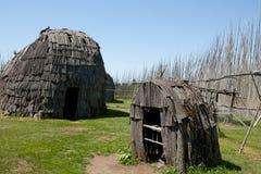 Tsiionhiakwatha Droulers arkeologisk plats - Quebec - Kanada Arkivfoton