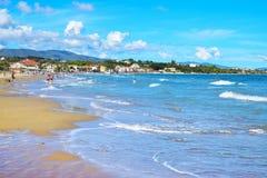 Tsilivi海滩在扎金索斯州 免版税库存图片