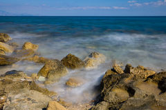 Tsilivi beach slow shuter speed Royalty Free Stock Photography