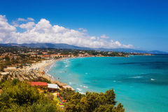 Tsilivi village and beach on Zakynthos island Royalty Free Stock Photo