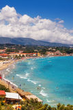 Tsilivi village and beach on Zakynthos island Stock Photo