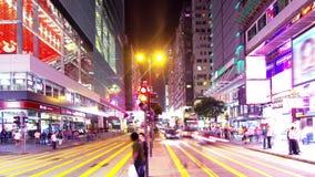 Tsim Sha Tsui. Νύχτα Timelapse Χονγκ Κονγκ. Ακόμα ευρύς πυροβολισμός. απόθεμα βίντεο