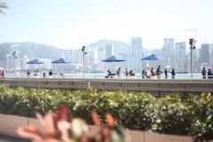 Tsim Sha Tsui, около гавани Виктории Стоковое фото RF