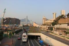 Tsim Sha Tsui Area in Hong Kong Royalty-vrije Stock Afbeeldingen