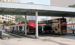 Tsim Sha Tsui Bus terminal Stock Images