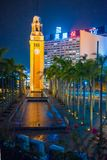 Tsim Sha Tsui, Hong Kong - 10 gennaio, 2018: La torre di orologio è Immagine Stock