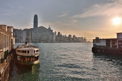Tsim Sha Tsui moored and waiting for passengers Royalty Free Stock Photography