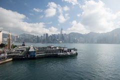 Tsim Sha Tsui Star Ferry Pier with blue sky Stock Photos