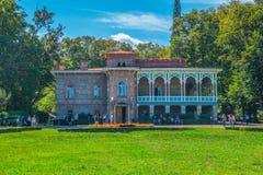 Tsinandali,乔治亚- 30/09/2018 :Tsinandali宫殿和庭院, 库存图片