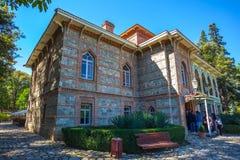 Tsinandali,乔治亚- 30/09/2018 :Tsinandali宫殿和庭院, 免版税库存照片