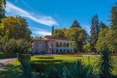 Tsinandali,乔治亚- 30/09/2018 :Tsinandali宫殿和庭院, 库存照片
