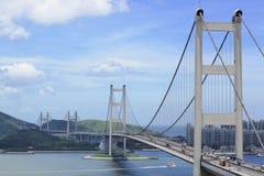 Tsing Ma桥梁 免版税库存照片