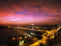 Tsing MA Brücke Stockbilder