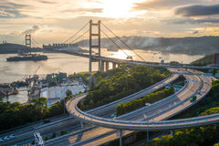 Tsing MA Brücke Stockfotografie