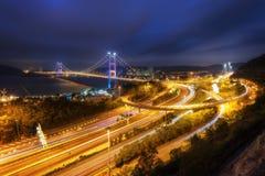 Tsing MA Brücke Hong Kong stockfoto