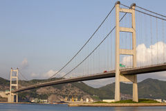 Tsing Ma Bridżowy Hong Kong Obrazy Royalty Free