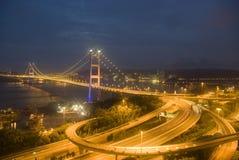 Tsing Ma Bridge Royalty Free Stock Photography