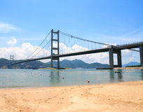 Tsing Ma Bridge. Take the photo in hong kong Tsing Ma Bridge in June 2008 Royalty Free Stock Images