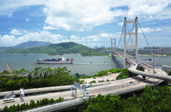 Tsing Ma Bridge Royalty Free Stock Photo