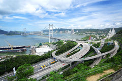 Tsing Ma Bridge Stock Photo