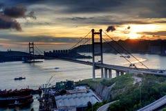 Tsing Ma Bridge. Hong Kong stock photos