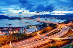 Tsing Ma Bridge Royalty Free Stock Images
