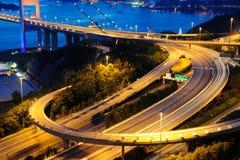 Tsing Ma Bridge. Hong Kong royalty free stock image