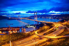 Tsing Ma Bridge. Hong Kong stock photo