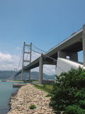 Tsing ma bridge. Nice view of Tsing Ma Bridge in hong kong stock images