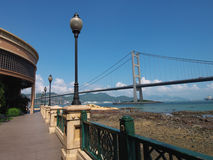 Tsing ma bridge. Nice view of Tsing Ma Bridge in hong kong stock photo
