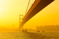 Tsing ma bridge Royalty Free Stock Photography