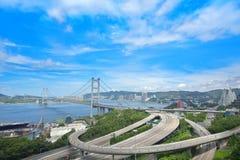 Tsing ma bridge Royalty Free Stock Images