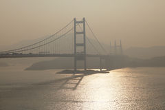 Tsing Ma Bridge, Hong Kong Stock Image