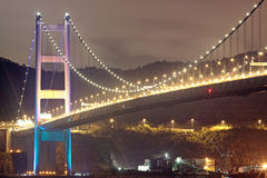 Tsing Ma Bridge in Hong Kong Stock Image