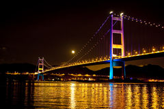 Tsing Ma Bridge Hong Kong Stock Image
